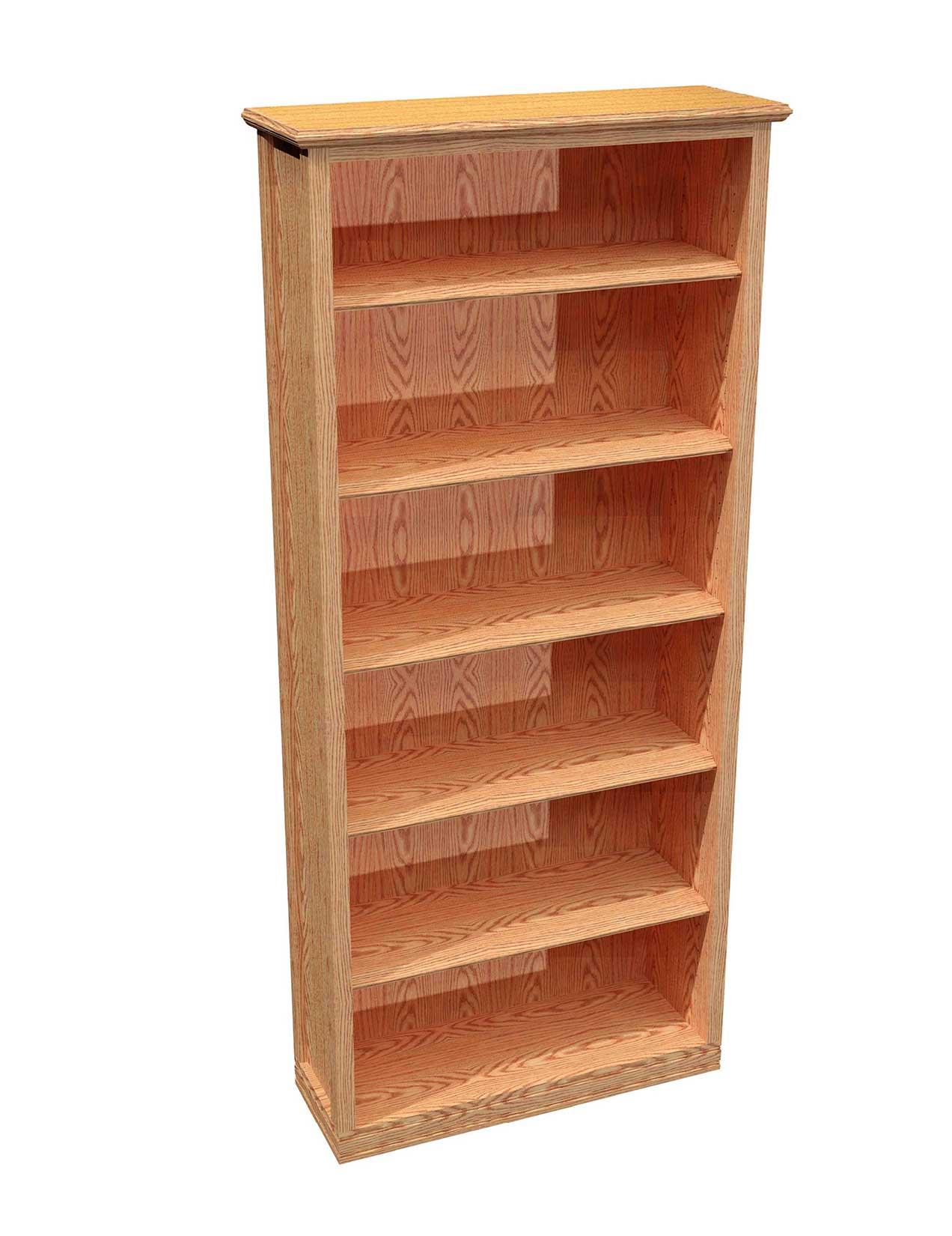 Classic Oak 6 Shelf Bookcase